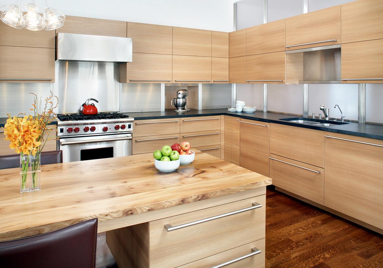 Кухня в деревянном стиле фото